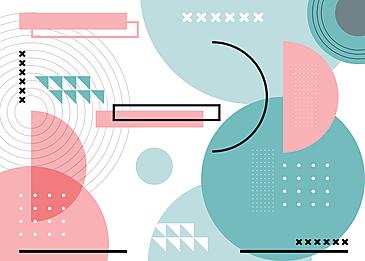 cyan pink geometric abstract creative background