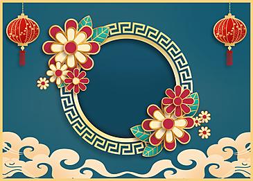 dark chinese new year golden stroke background