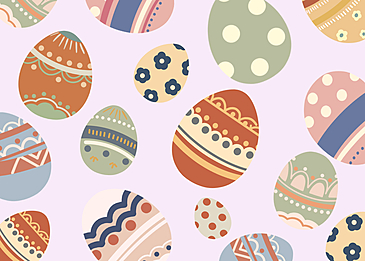 easter eggs party background