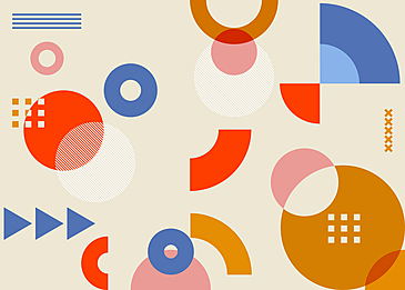 geometric abstract circle background