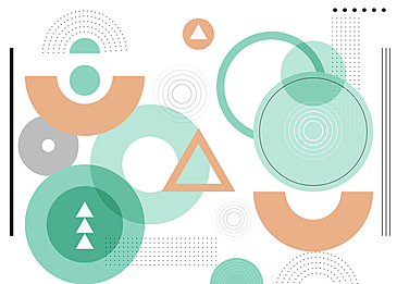 geometric circle abstract background