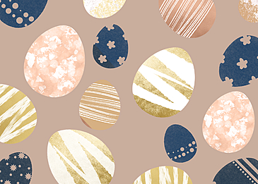 hollow egg easter background