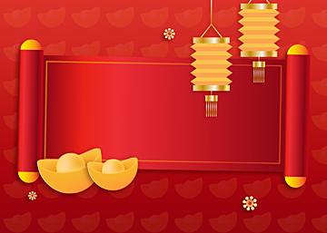 new year chinese style golden stroke ingot background