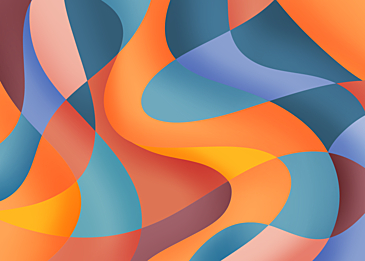 orange blue abstract colorful curve background