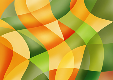 orange green abstract colorful curve background