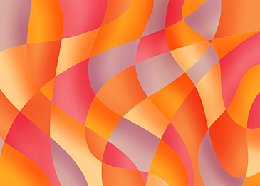 orange red abstract colorful curve background