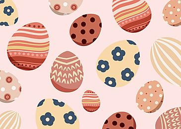 pink easter egg background