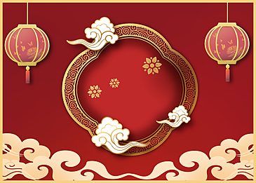 red chinese new year golden stroke background
