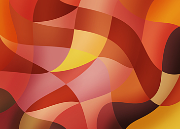 red yellow abstract colorful curve background