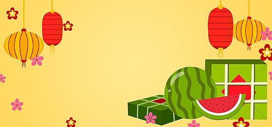 spring festival gift zongzi watermelon vietnam spring festival background