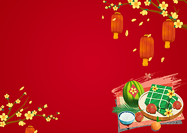 watermelon dumplings fruit vietnamese spring festival background