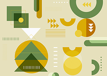 yellow green geometric abstract background