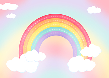 gradient glowing rainbow clouds background