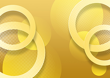 yellow circle dot gradient abstract geometric background
