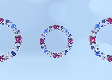 blue diamond decoration background