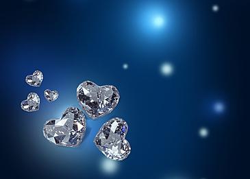 blue fantasy love diamond background