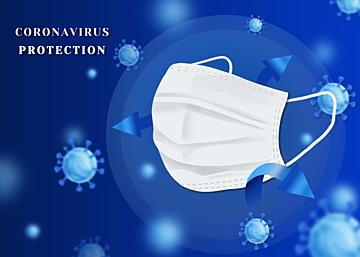 blue new crown virus mask background