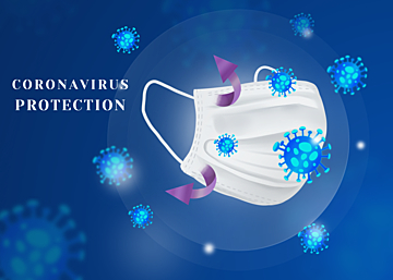 blue new crown virus protection background