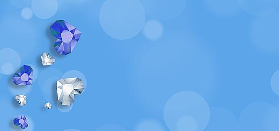 blue shiny diamond background