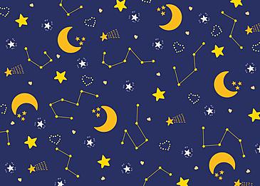 cute beautiful blue yellow white stars tile background
