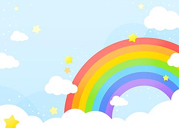 cute beautiful rainbow clouds background