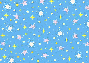 cute gentle blue pink yellow stars tile background