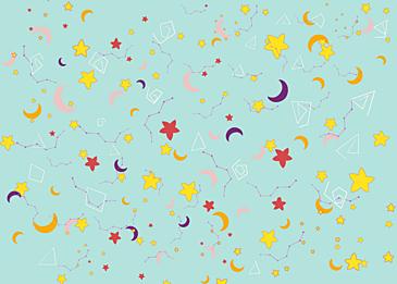 cute moon stars tile background