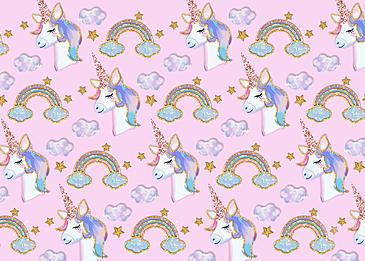 cute phnom penh unicorn rainbow stars clouds background