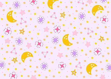 cute purple yellow pink stars tile background