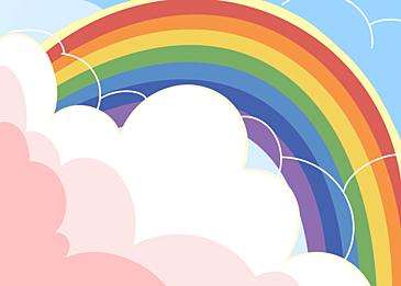 cute rainbow background