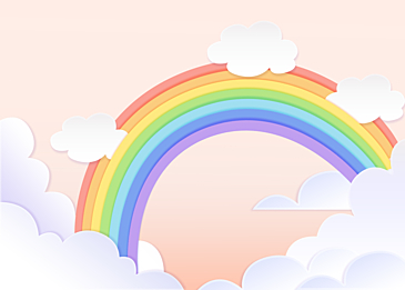 cute rainbow clouds