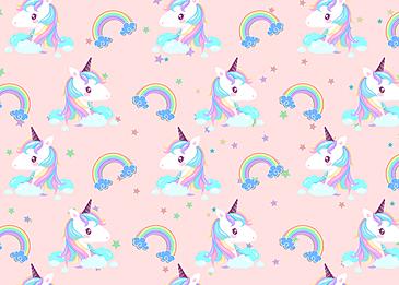 cute rainbow unicorn pattern background