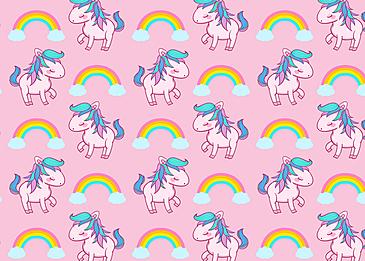 cute unicorn pattern background