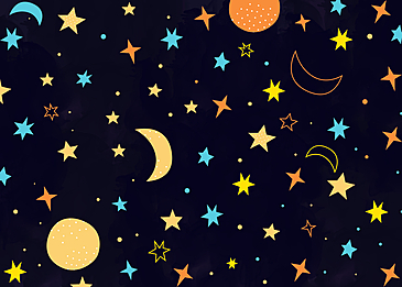 dark background cartoon stars background