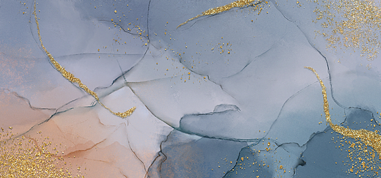 dark blue pink gold powder flow color marble background