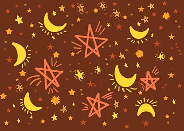 dark orange stars background