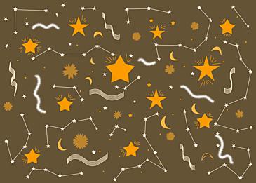 earthy yellow stars background