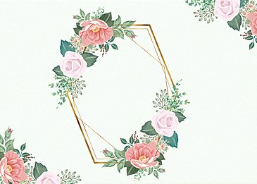floral flower background metal border