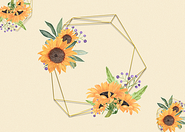 floral flower border texture background