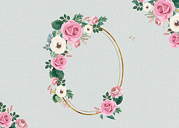 floral texture metal border background