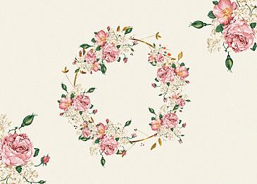 flower border flower material background