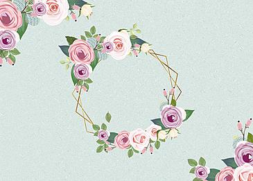 flower floral metal border background