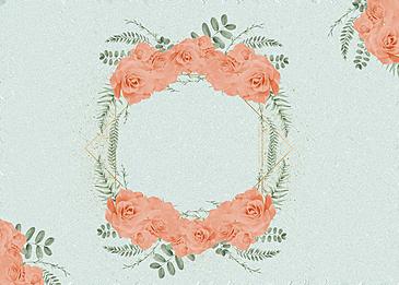 flower material floral metal border background