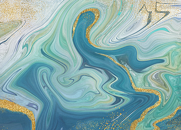 gold powder blue blue marble abstract background