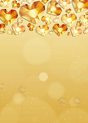 golden love diamond background