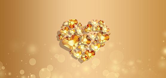 golden texture love diamond background