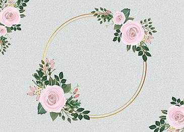 metal border background floral flower background