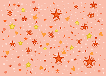 pink cute star background