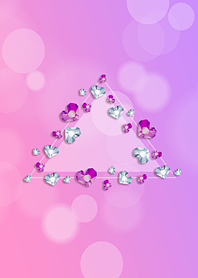pink diamond border background