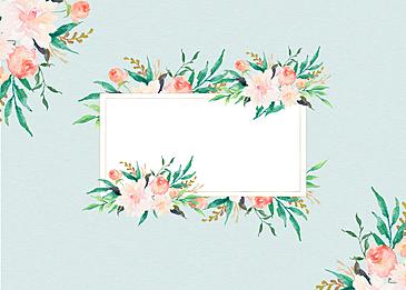 plant flower floral border background